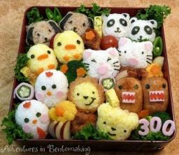 Japonų maisto dėžutės