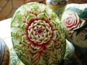 Kinų menas iš maisto: daržovių ir vaisių drožiniai