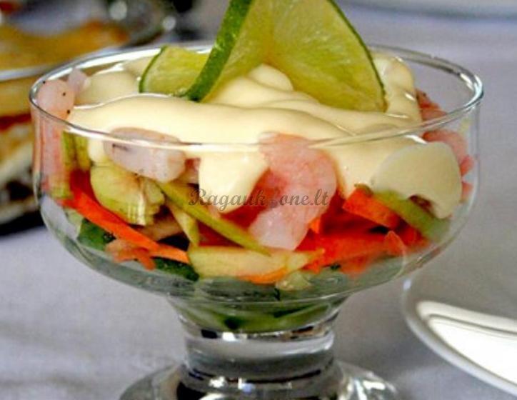 Рецепт приготовления Салат Коктейль из креветок. Ингредиенты