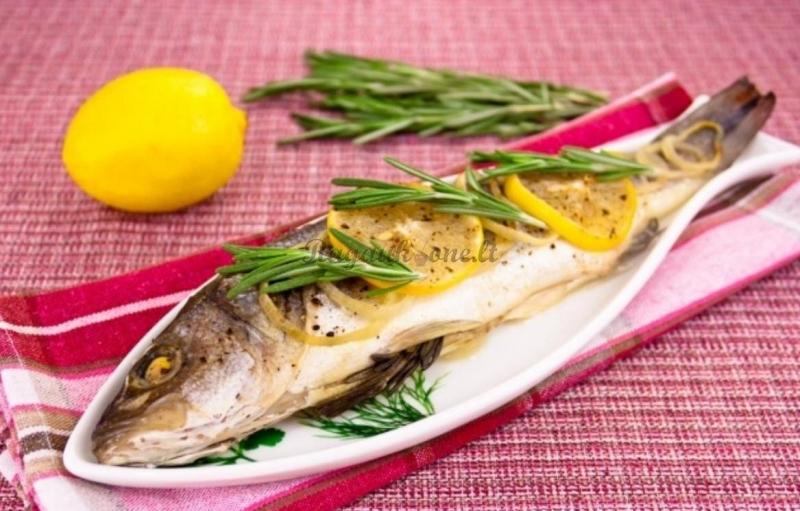 Жаренная рыбы в фольге при диете