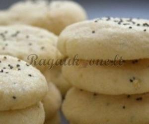 Sausainiai su aguonomis ir kokoso drožlėmis