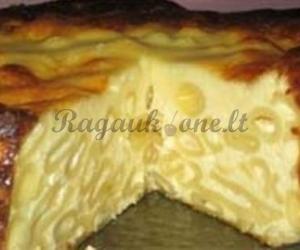 Apkepas su makaronais ir sūriu