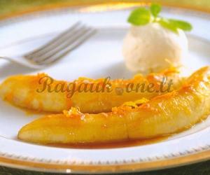 """Skaniausias bananų desertas """"Flambe"""""""