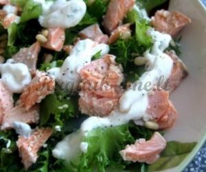 Lašišos salotos