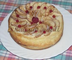 Skanusis varškės  pyragas su obuoliais