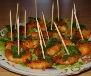 Keptos krevetės švenčių stalui