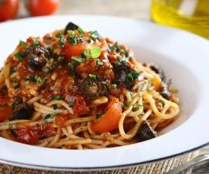 Graikiški spagečiai su malta mėsa