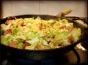Kalafiorai su dešrelėmis ir kiaušiniais