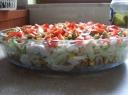 Sluoksniuotos vištienos salotos