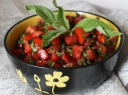 Pomidorų salotos su mėta