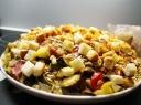 Keptų daržovių salotos