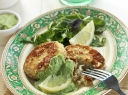 Žuvies blyneliai su sezamu