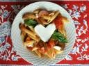 Makaronai su baklažanais ir pomidorais