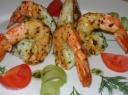 Marinuotos ir keptos tigrinės krevetės