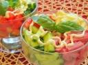 Kumpio ir daržovių salotos