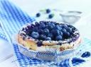 Sūrio pyragas su mėlynėmis