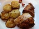 Aštri vištiena su bulvėmis