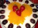 Jogurto tortas su persikais