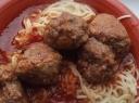 Alaus ir pomidorų padažo mėsos kukuliai
