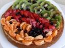 Sūrio pyragas su vaisiais