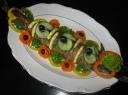 Jūros lydeka ir daržovėmis įdaryta lydekaitė