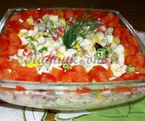 Žirnių ir kukurūzų salotos