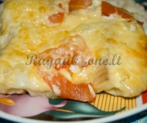 Kepsniai su ananasais ir sūriu