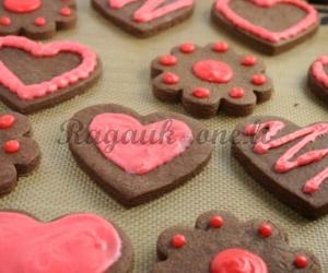 """Šokoladiniai sausainiai """"Meilės diena"""""""