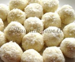 Saldainiai su kokoso riešutu