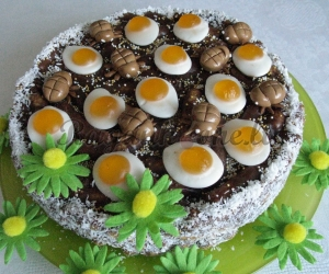 Kukurūzinis tortas Velykoms