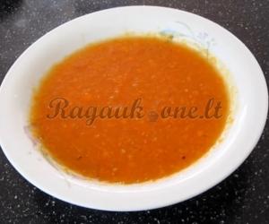 Greita daržovių sriuba