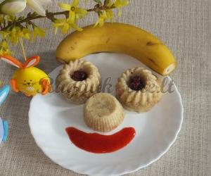 Bananų pyragas, paruoštas garuose