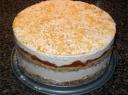 Ledų tortas su persimonais