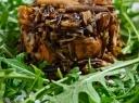 Grybų salotos su laukiniais ryžiais