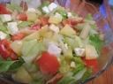 Salotos su bulvėmis ir šparagais