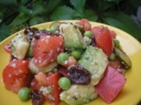 Egzotiškos salotos su avokadais