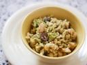 Pupelių salotos su brokoliais ir ryžiais