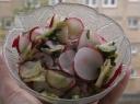 Ridikų ir agurkų salotos