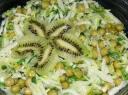 Žirnelių salotos su kiviais