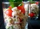 Ryžių salotos su tunu ir pomidorais