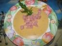 Trinta sūrio sriuba su kumpiu ir daržovėmis