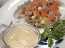Silkių salotos su padažu