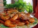 Svieste keptos krevetės