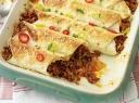 Meksikietiškas vištienos Enchiladas su Mole padažu