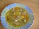 Sriuba su mėsos gabaliukais