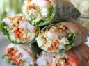 """Kepti suktinukai su """"Spring rolls"""" su daržovėmis ir stikliniais makaronais"""