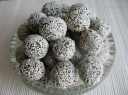 Imbieriniai vaisių - riešutų saldainiai