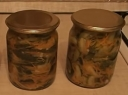 Konservuotos agurkų salotos